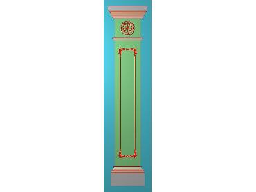 ZBZT173-JDP格式欧式柱板洋花精雕图罗马柱板洋花精雕图长条柱板洋花雕刻图(含灰度图)