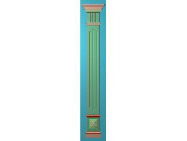 ZBZT174-JDP格式欧式柱板洋花精雕图罗马柱板洋花精雕图长