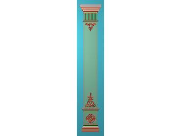 ZBZT176-JDP格式欧式柱板洋花精雕图罗马柱板洋花精雕图长条柱板洋花雕刻图(含灰度图)