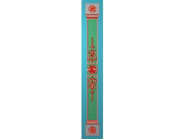 ZBZT186-JDP格式欧式柱板洋花精雕图罗马柱板洋花精雕图长条柱板洋花雕刻图(含灰度图)