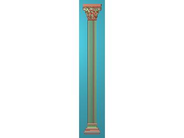ZBZT188-JDP格式欧式柱板洋花精雕图罗马柱板洋花精雕图长条柱板洋花雕刻图(含灰度图)