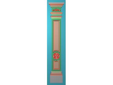 ZBZT191-JDP格式欧式柱板洋花精雕图罗马柱板洋花精雕图长条柱板洋花雕刻图(含灰度图)