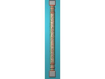 ZBZT193-JDP格式欧式柱板洋花精雕图罗马柱板洋花精雕图长条柱板洋花雕刻图(含灰度图)