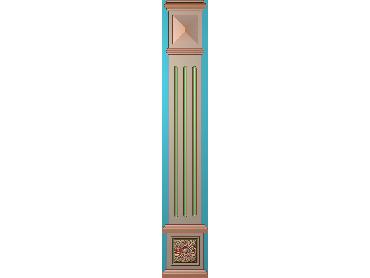 ZBZT194-JDP格式欧式柱板洋花精雕图罗马柱板洋花精雕图长条柱板洋花雕刻图(含灰度图)