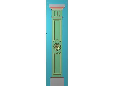 ZBZT196-JDP格式欧式柱板洋花精雕图罗马柱板洋花精雕图长