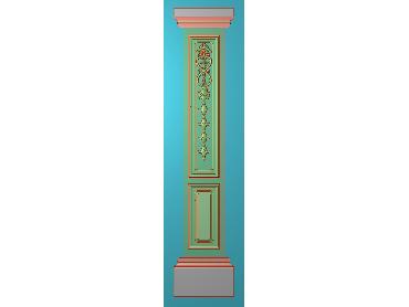 ZBZT197-JDP格式欧式柱板洋花精雕图罗马柱板洋花精雕图长条柱板洋花雕刻图(含灰度图)