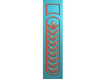ZBZT204-JDP格式欧式柱板洋花精雕图罗马柱板洋花精雕图长条柱板洋花雕刻图(含灰度图)