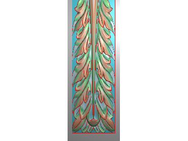 ZBZT206-JDP格式欧式柱板洋花精雕图罗马柱板洋花精雕图长条柱板洋花雕刻图(含灰度图)