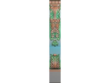 ZBZT212-JDP格式欧式柱板洋花精雕图罗马柱板洋花精雕图长条柱板洋花雕刻图(含灰度图)