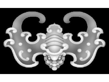 BFJH025-JDP格式蝙蝠角花精雕图蝙蝠洋花精雕图蝙蝠雕刻图
