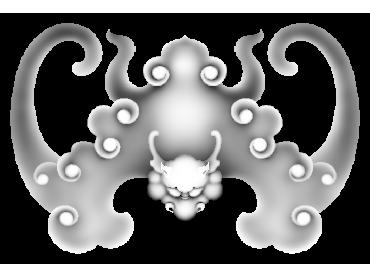 BFJH027-JDP格式蝙蝠角花精雕图蝙蝠洋花精雕图蝙蝠雕刻图