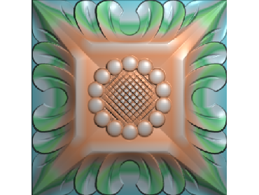 OUFH008-JDP格式欧式方形洋花精雕图方花电脑雕刻图方形洋花精雕图方块贴花精雕图欧式方形洋花灰度图(含灰度图)