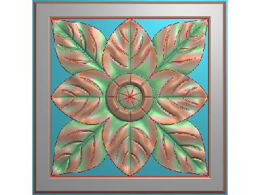 OUFH055-JDP格式欧式方形洋花精雕图方花电脑雕刻图方形洋花精雕图方块贴花精雕图欧式方形洋花灰度图(含灰度图)