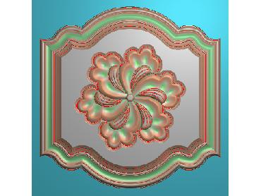 OUFH060-JDP格式欧式方形洋花精雕图方花电脑雕刻图方形洋花精雕图方块贴花精雕图欧式方形洋花灰度图(含灰度图)