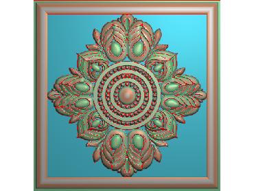 OUFH094-JDP格式欧式方形洋花精雕图方花电脑雕刻图方形洋花精雕图方块贴花精雕图欧式方形洋花灰度图(含灰度图)