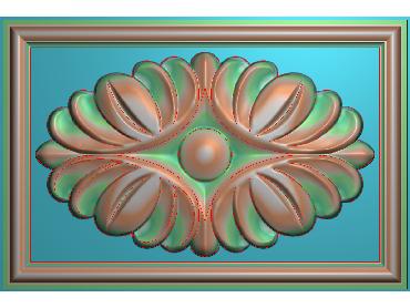 OUFH097-JDP格式欧式方形洋花精雕图方花电脑雕刻图方形洋花精雕图方块贴花精雕图欧式方形洋花灰度图(含灰度图)