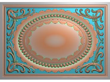 OUFH099-JDP格式欧式方形洋花精雕图方花电脑雕刻图方形洋花精雕图方块贴花精雕图欧式方形洋花灰度图(含灰度图)