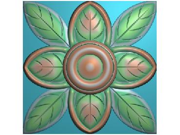 OUFH167-JDP格式欧式方形洋花精雕图方花电脑雕刻图方形洋花精雕图方块贴花精雕图