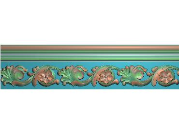 MDYH075-JDP格式欧式帽顶洋花精雕图牙板洋花精雕图欧式洋花精雕图欧式底板贴花精雕图(含灰度图)