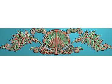 MDYH087-JDP格式欧式帽顶洋花精雕图牙板洋花精雕图欧式洋花精雕图欧式底板贴花精雕图(含灰度图)