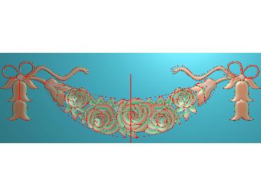 MDYH095-JDP格式欧式帽顶洋花精雕图牙板洋花精雕图欧式洋花精雕图欧式底板贴花精雕图(含灰度图)