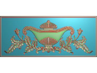 MDYH110-JDP格式欧式帽顶洋花精雕图牙板洋花精雕图欧式洋花精雕图欧式底板贴花精雕图(含灰度图)
