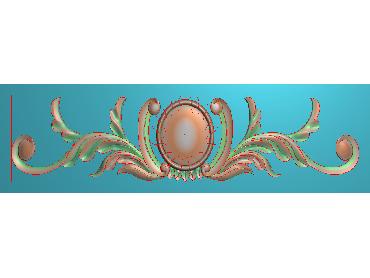 MDYH141-JDP格式欧式帽顶洋花精雕图牙板洋花精雕图欧式洋花精雕图欧式底板贴花精雕图(含灰度图)