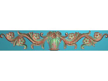 MDYH149-JDP格式欧式帽顶洋花精雕图牙板洋花精雕图欧式洋花精雕图欧式底板贴花精雕图(含灰度图)