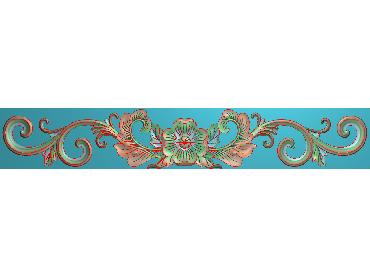 MDYH173-JDP格式欧式帽顶洋花精雕图牙板洋花精雕图欧式洋花精雕图欧式底板贴花精雕图(含灰度图)
