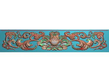 MDYH191-JDP格式欧式帽顶洋花精雕图牙板洋花精雕图欧式洋花精雕图欧式底板贴花精雕图(含灰度图)
