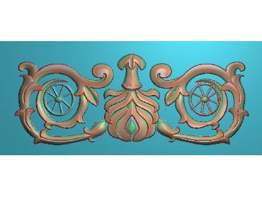 MDYH200-JDP格式欧式帽顶洋花精雕图牙板洋花精雕图欧式洋花精雕图欧式底板贴花精雕图(含灰度图)