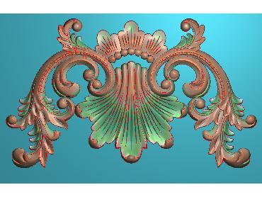 MDYH220-JDP格式欧式帽顶洋花精雕图牙板洋花精雕图欧式洋花精雕图欧式底板贴花精雕图(含灰度图)