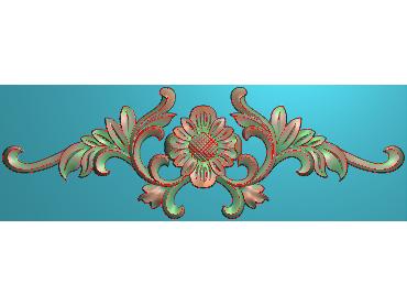 MDYH355-JDP格式欧式帽顶洋花精雕图牙板洋花精雕图欧式洋花精雕图欧式底板贴花精雕图(含灰度图)