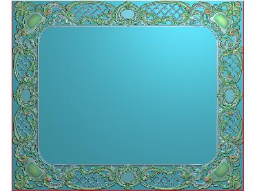 OUMH008-JDP格式欧式门花精雕图欧式洋花护墙板雕刻图欧式洋花门板精雕图