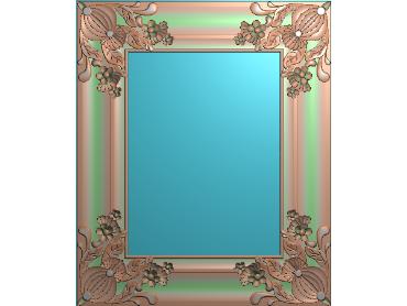 OUMH018-JDP格式欧式门花精雕图欧式洋花护墙板雕刻图欧式洋花门板精雕图