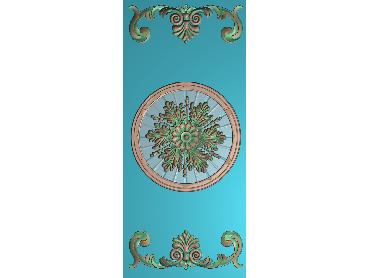 OUMH045-JDP格式欧式门花精雕图欧式洋花护墙板雕刻图欧式洋花门板精雕图