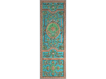 OUMH058-JDP格式欧式门花精雕图欧式洋花护墙板雕刻图欧式洋花门板精雕图