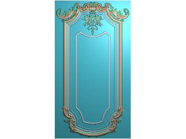 OUMH061-JDP格式欧式门花精雕图欧式洋花护墙板雕刻图欧式洋花门板精雕图