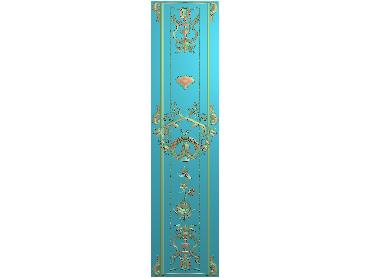 OUMH063-JDP格式欧式门花精雕图欧式洋花护墙板雕刻图欧式洋花门板精雕图