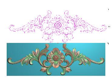 OUMH097-JDP格式欧式门花精雕图欧式洋花护墙板雕刻图欧式洋花门板精雕图