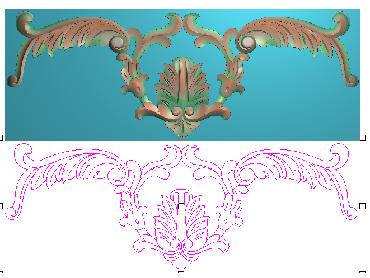 OUMH098-JDP格式欧式门花精雕图欧式洋花护墙板雕刻图欧式洋花门板精雕图