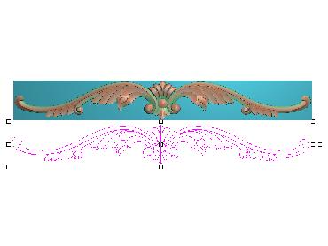 OUMH099-JDP格式欧式门花精雕图欧式洋花护墙板雕刻图欧式洋花门板精雕图