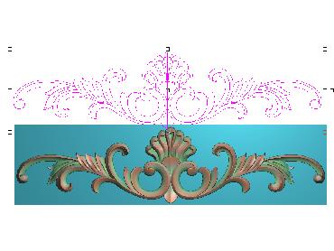 OUMH100-JDP格式欧式门花精雕图欧式洋花护墙板雕刻图欧式洋花门板精雕图