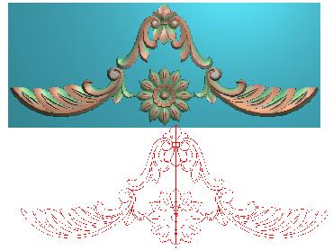 OUMH101-JDP格式欧式门花精雕图欧式洋花护墙板雕刻图欧式洋花门板精雕图