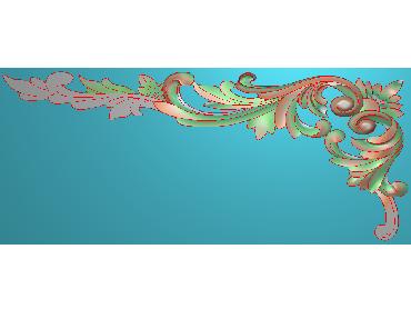 OUMH102-JDP格式欧式门花精雕图欧式洋花护墙板雕刻图欧式洋花门板精雕图