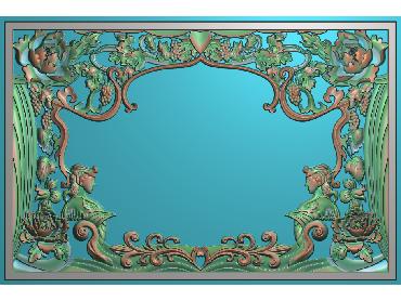 MXYH009-JDP格式欧式门芯洋花精雕图门芯贴花精雕图欧式洋花雕刻图(含灰度图)
