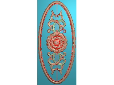 MXYH031-JDP格式欧式门芯洋花精雕图门芯贴花精雕图欧式洋花雕刻图(含灰度图)