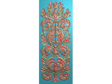 MXYH051-JDP格式欧式门芯洋花精雕图门芯贴花精雕图欧式洋花雕刻图(含灰度图)