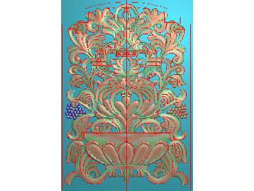MXYH063-JDP格式欧式门芯洋花精雕图门芯贴花精雕图欧式洋花雕刻图(含灰度图)