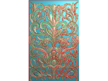 MXYH069-JDP格式欧式门芯洋花精雕图门芯贴花精雕图欧式洋花雕刻图(含灰度图)